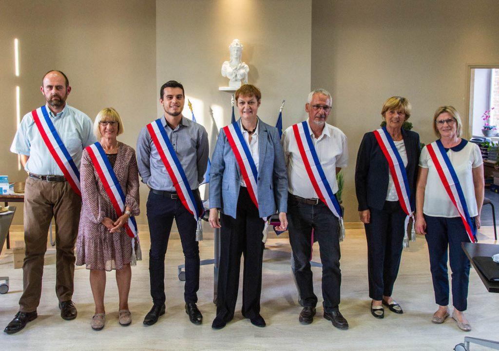 Le Maire et les adjoints de la ville de Boves